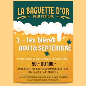 Festivals des bières 50.-