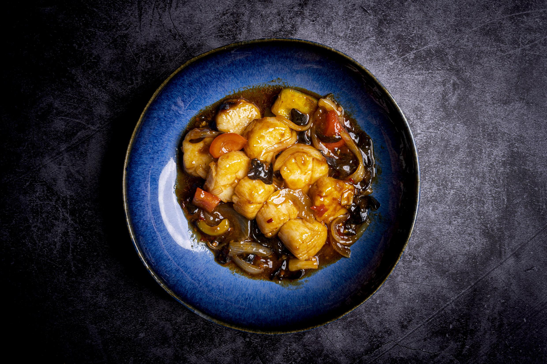 鱼香鲜贝 | Noix de Saint Jacques à la sauce Yussian (piquant)