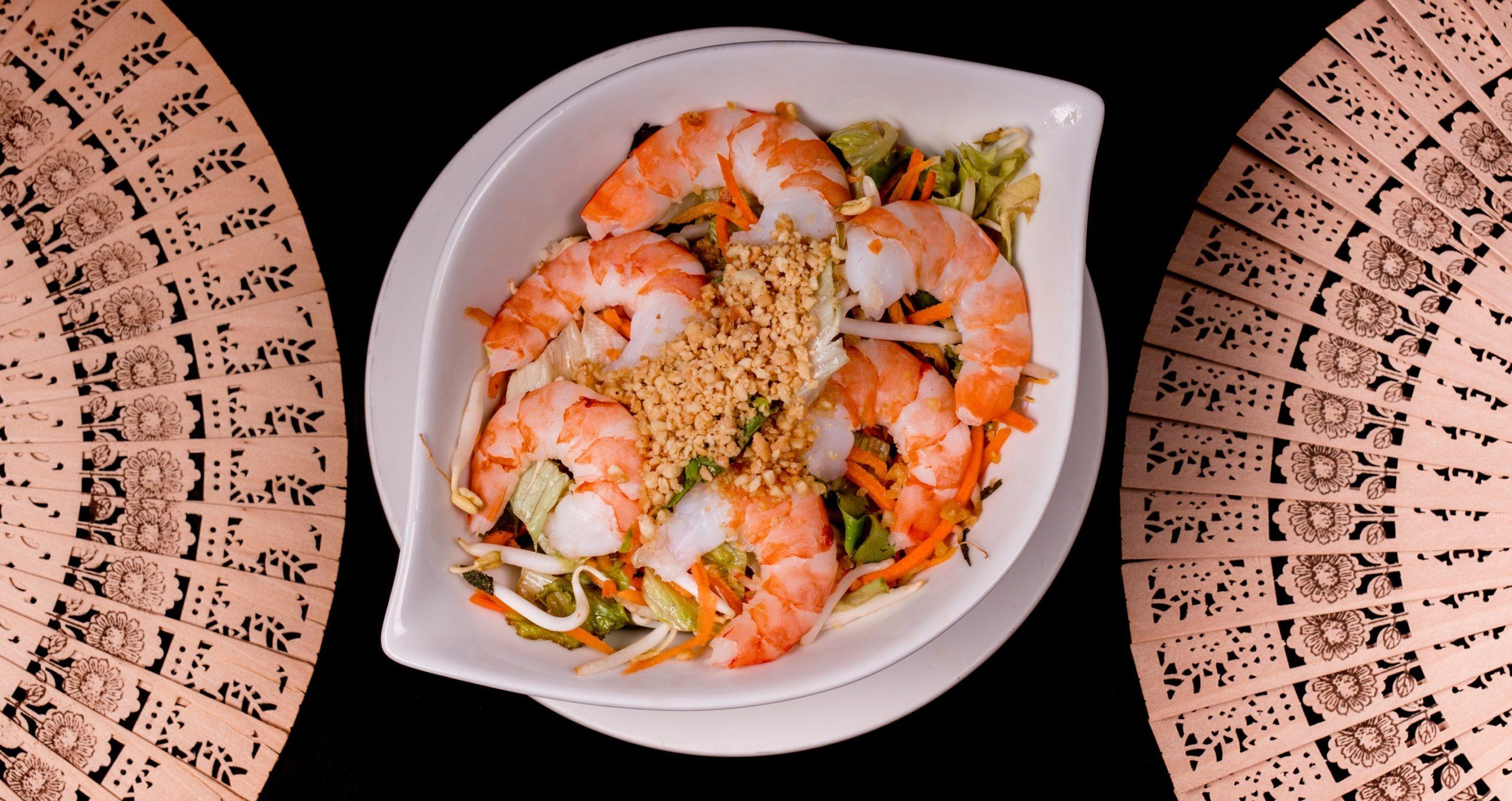 蝦片沙拉   Salade de crevettes
