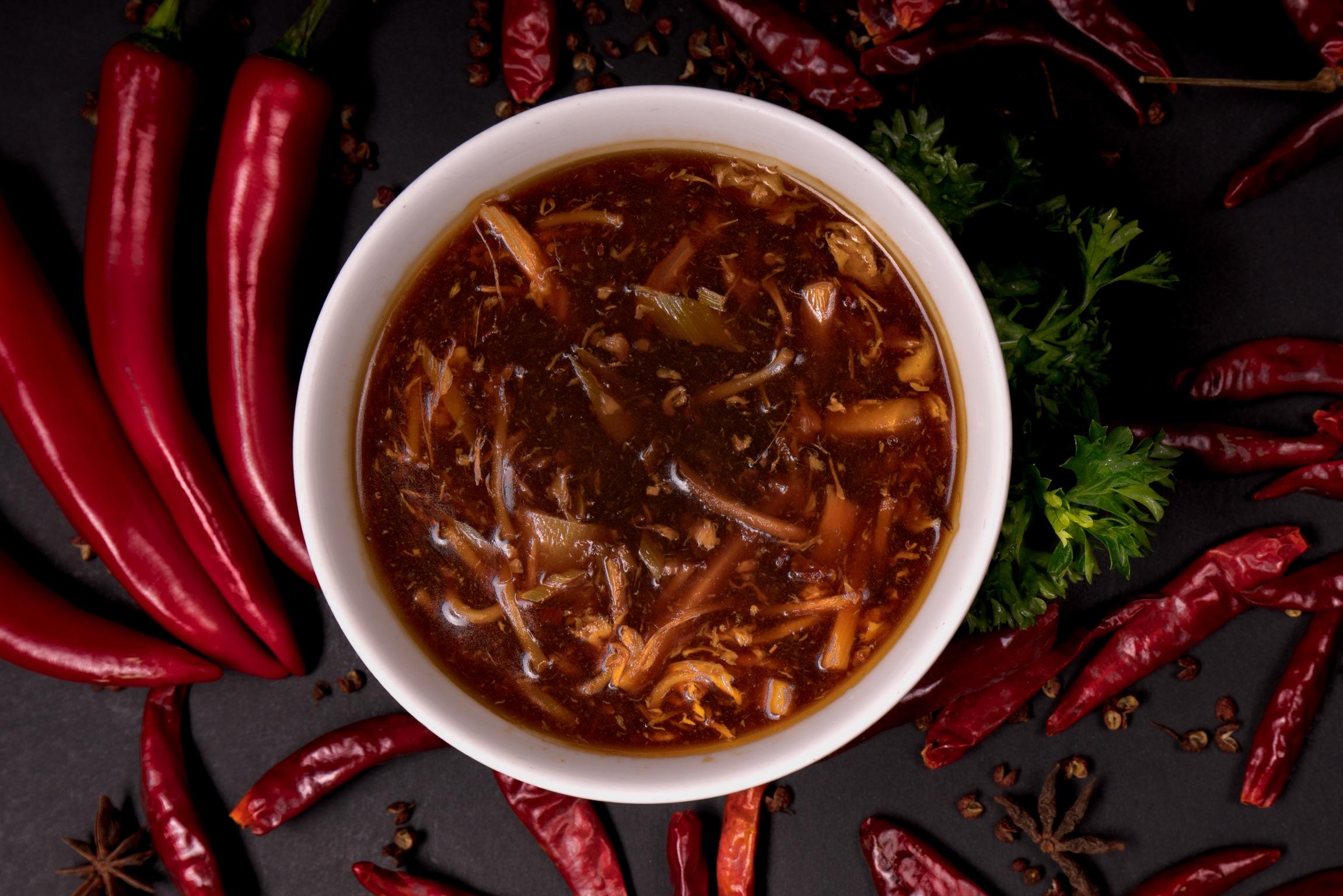 酸辣湯   Potage pékinois (aigre piquant)