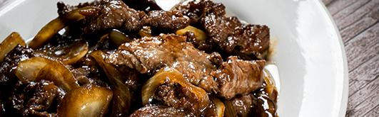 豆豉牛柳  Filet de boeuf sauté aux haricots noir