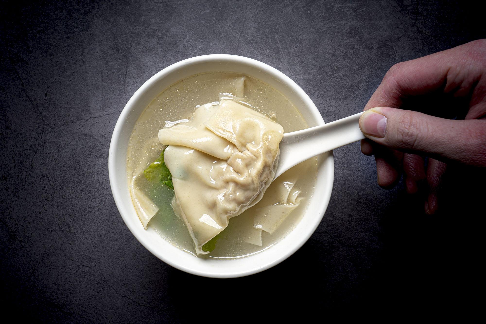 雲吞湯   Potage aux raviolis chinois