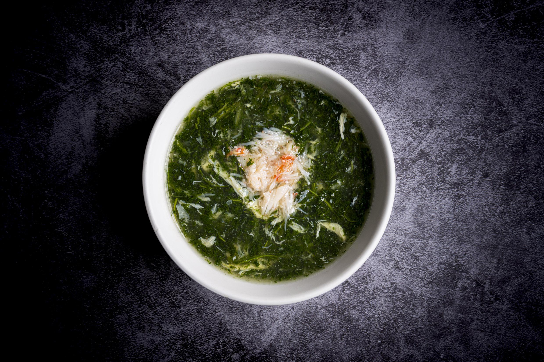 翡翠蟹肉湯   Potage Jade (épinard et 100% chair de crabe)