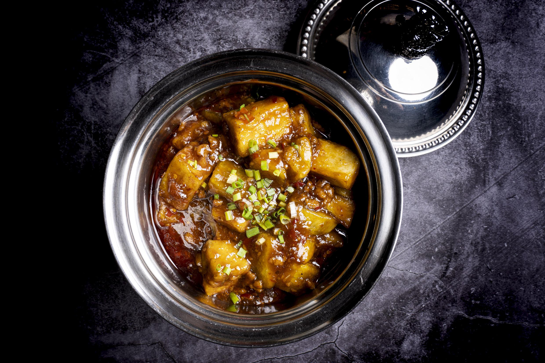 鱼香茄子  Aubergines braisées sauce Sichuan au porc