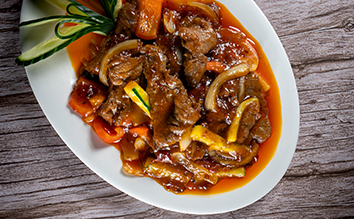 魚香牛柳   Filet de boeuf sauté à la sauce Yussian